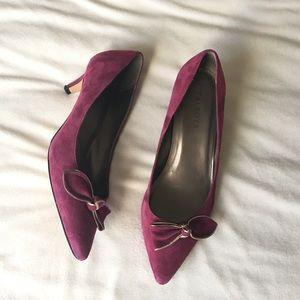 Talbots Purple Velvet Heels Size 9